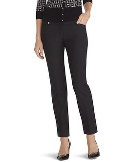 Curvy Perfect Form Black Ankle Pants
