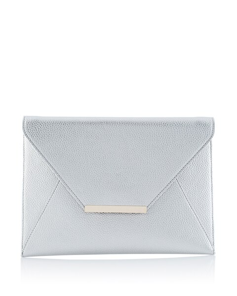 50b92f3b037 Silver Envelope Clutch - White House Black Market