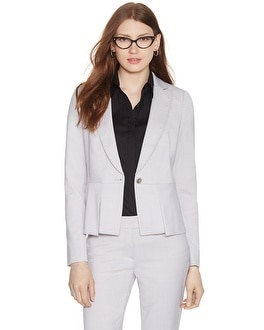 Long Sleeve Gray Suit Jacket