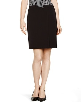 Seasonless Straight Black Pencil Skirt