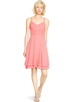 Sleeveless Surplice Empire Dress