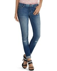 Saint Honore Distressed Skimmer Jeans