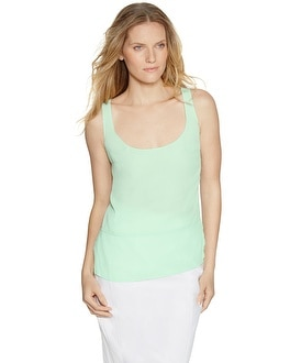 Sleeveless Crepe Tank