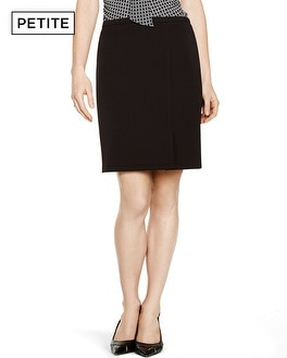 Petite Seasonless Straight Black Pencil Skirt