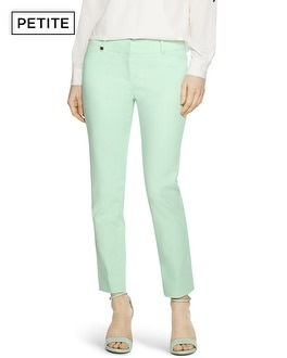 Petite Divinity Green Perfect Form Ankle Pants