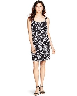 Sleeveless Floral Print Blouson Dress