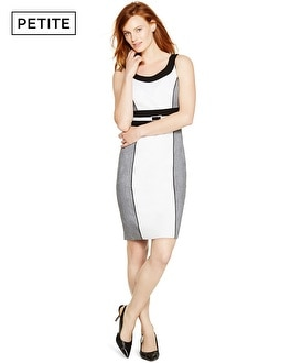 Petite Sleeveless Colorblock Sheath Dress