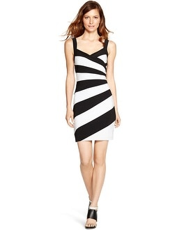 Sleeveless Colorblock Instantly Slimming Dress