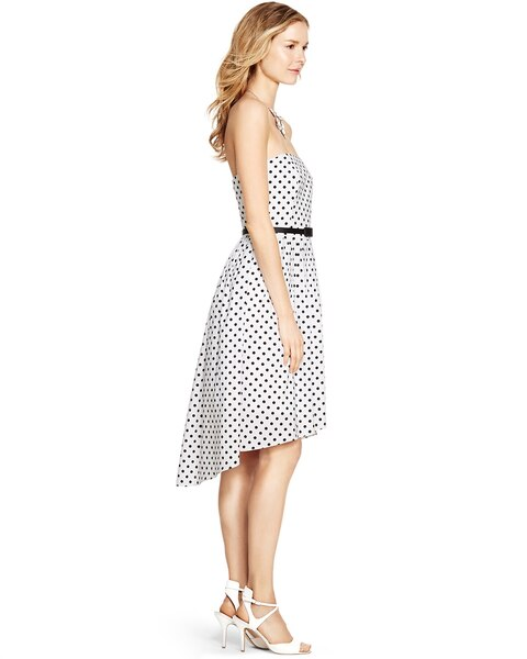 f99cc080c49 Return to thumbnail image selection Strapless Polka Dot Fit and Flare Dress