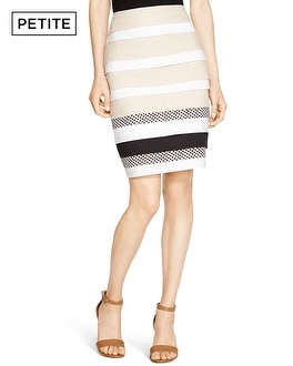 Petite Layered Pencil Skirt