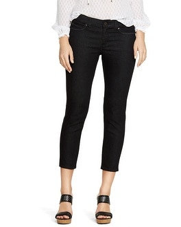 Saint Honore Curvy Black Skinny Crop Jeans