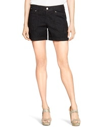 Saint Honore Black Trouser Jean Shorts