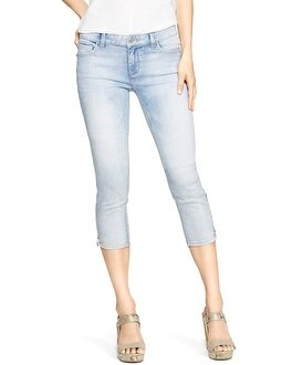 Saint Honore Light Wash Skinny Crop Jeans