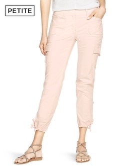 Petite Convertible Ankle to Crop Cargo Pants