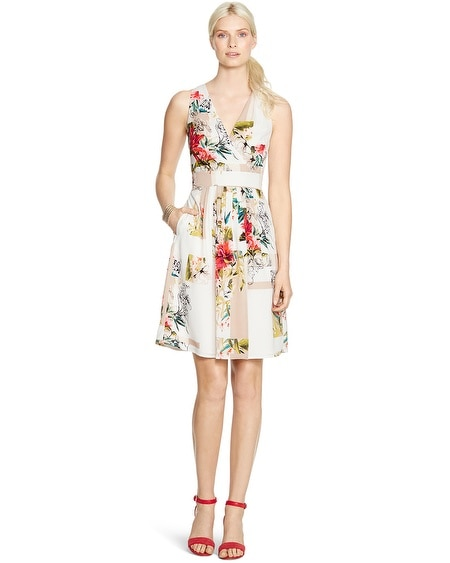 Sleeveless Watercolor Floral Dress