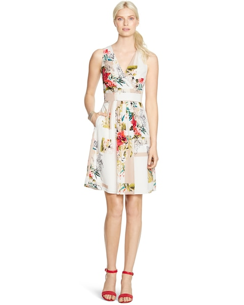 Return To Thumbnail Image Selection Sleeveless Watercolor Fl Dress Video Preview Click Start
