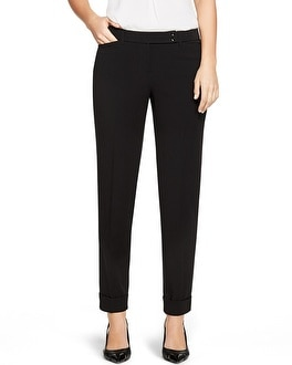 Curvy Seasonless Black Ankle Pants