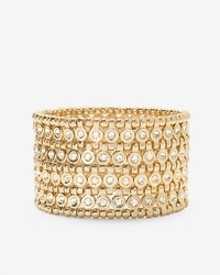 Golden Wide Stretch Bracelet