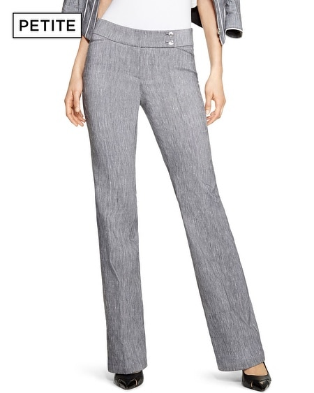 The perfect pant for relaxed style, our newest bottom comes in crisp linen fabric with an all-around elastic waistband for added comfort. Zip fly opening with button closure.
