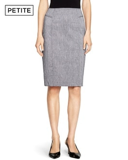 Petite Linen Pencil Skirt