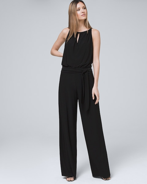 2ce517091d07 Return to thumbnail image selection Wide-Leg Black Jumpsuit video preview  image