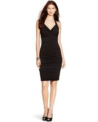 Halter Ruched Black Instantly Slimming Dress