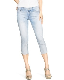 Saint Honore Curvy Light Wash Skinny Crop Jeans