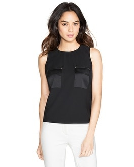 Sleeveless Cropped Shell
