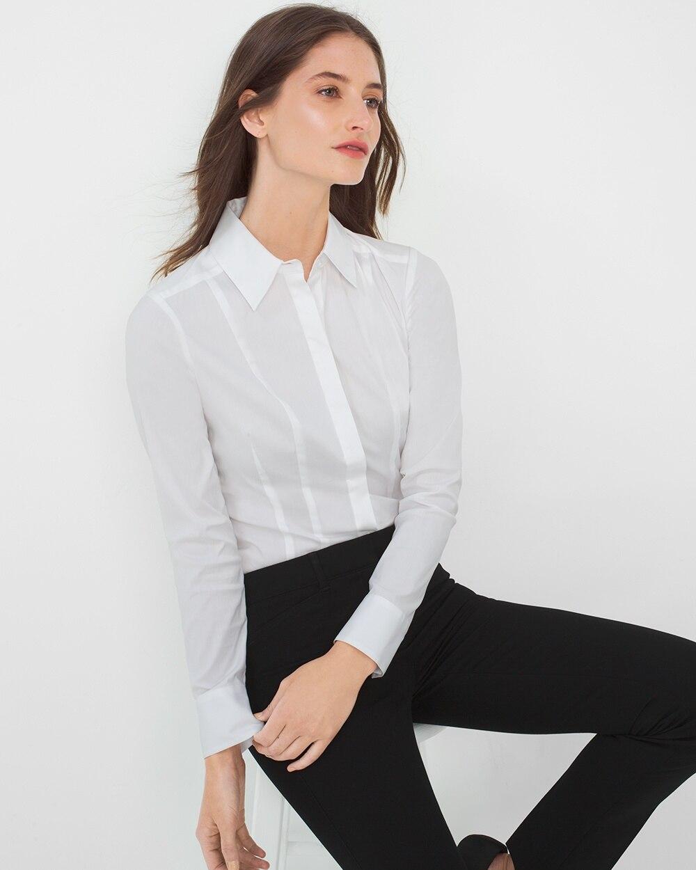 14aeeef69baddd White Poplin Shirt - White House Black Market