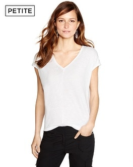 Petite The Jetsetter V-Neck Tee