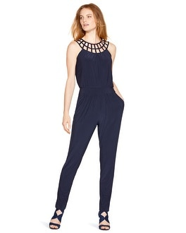 Lattice Neck Jumpsuit