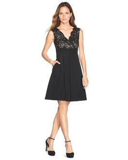 Lace Bodice Faille Dress