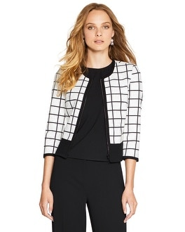Windowpane Ponte Jacket