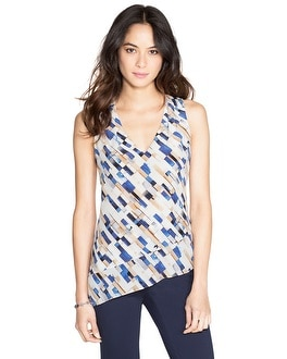 Sleeveless Patterned Silk Tunic