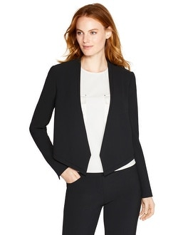 Cropped Soft Drape Jacket