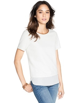 Short Sleeve Textured Boxy Top