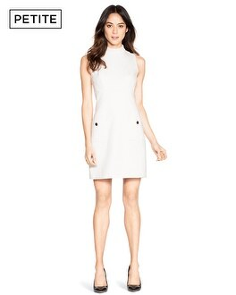 Petite Sleeveless Mock Neck Shift Dress