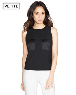 Petite Sleeveless Cropped Shell