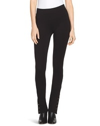 Snap-Ankle Ponte Leggings