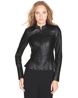Leather Moto Peplum Jacket