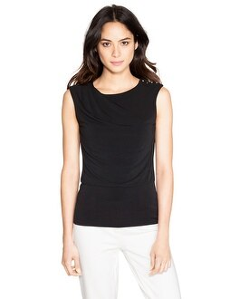 Sleeveless Crepe Blouson Top