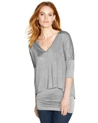V-Neck Double Layer Tunic