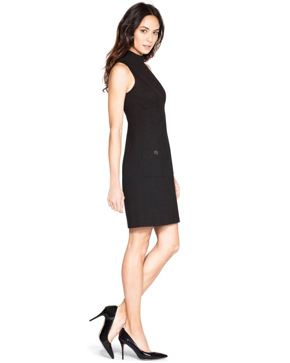 Sleeveless Mock Neck Shift Dress White House Black Market