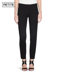 Petite City Knit Ponte Ankle Pants