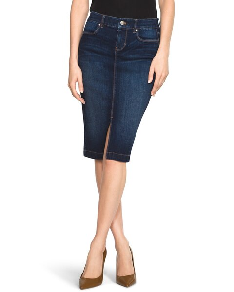 denim pencil skirt whbm
