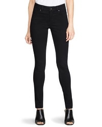Saint Honore Black Mid-Rise Skinny Jeans