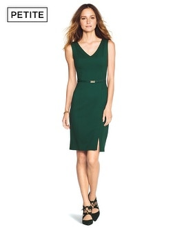 Petite V-Neck Sheath Dress