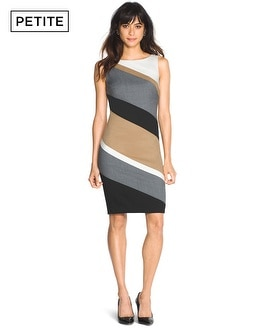 Petite Sleeveless Colorblock Sheath