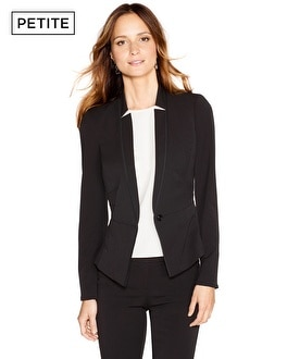 Petite Seasonless Dart-Panel Blazer