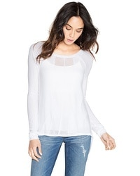 Sheer Stitchy Pullover